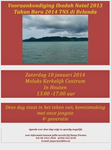 Vooraankondiging TNS dag 18 jauari 2014